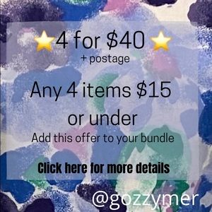 ⭐️ Special Offer ⭐️ 4 items for $40*